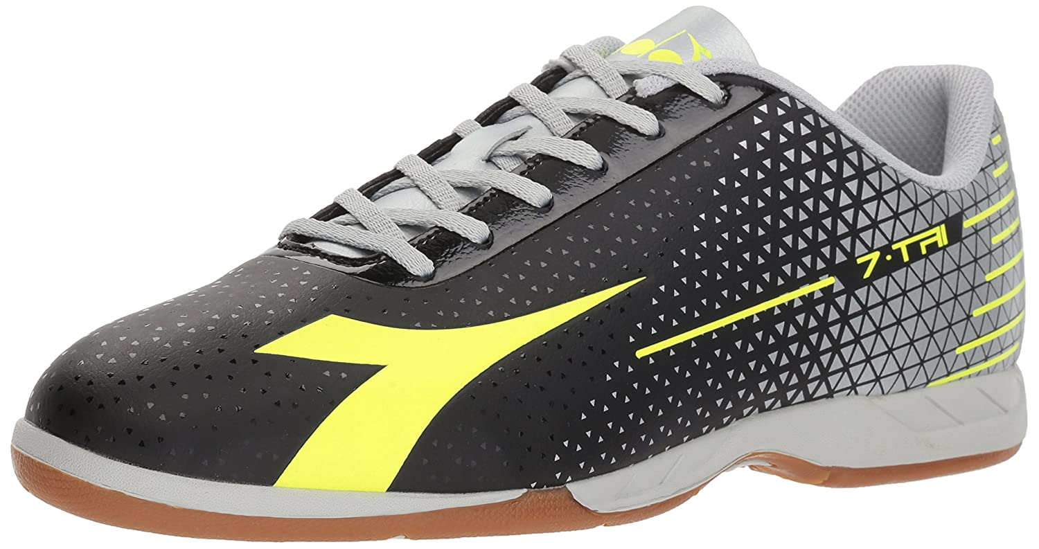 Diadora ユニセックスアダルト B07693LKL1 10 D(M) US|Black/Flo Yellow/Silver Black/Flo Yellow/Silver 10 D(M) US