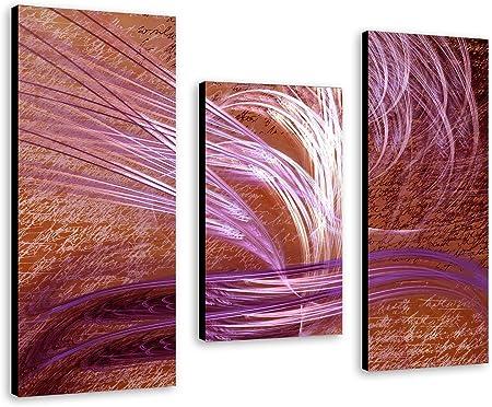 Images Sur Toile Tableau Mural Abstrakt En 3 Partie Xxl Bon