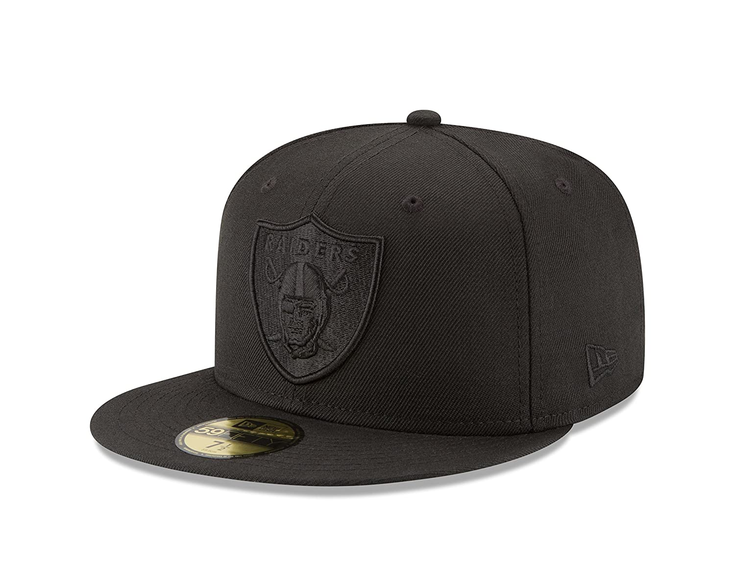 New Era NFL Men's Black On Black 59Fifty Fitted Cap