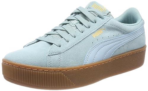 PUMA Vikky Platform Leather Sneaker Scarpe Donna 363287 11 VERDE