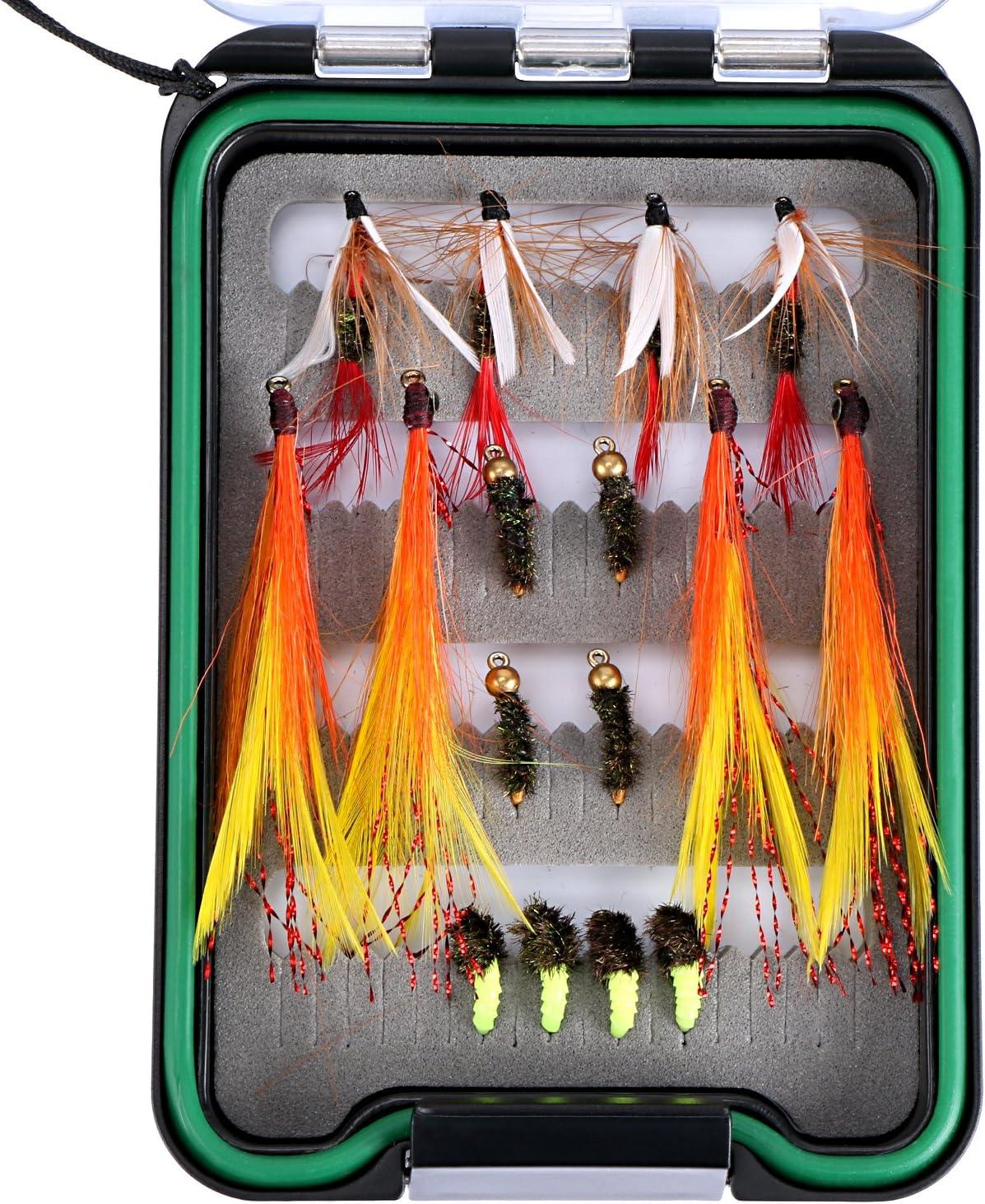 Portable Waterproof Fly Fishing Lure Bait Trout Flies Storage Box Hook Case A5R8