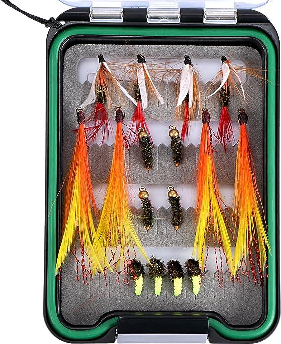 Dry Flies Hooks Trout Fishing Baits Waterproof Box Foam Insert Case Fly Box