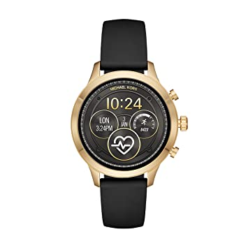c76cff2ab317 Amazon.com  Michael Kors Women s Access Runway Plated Touchscreen Watch  with Stainless Steel Silicone Strap