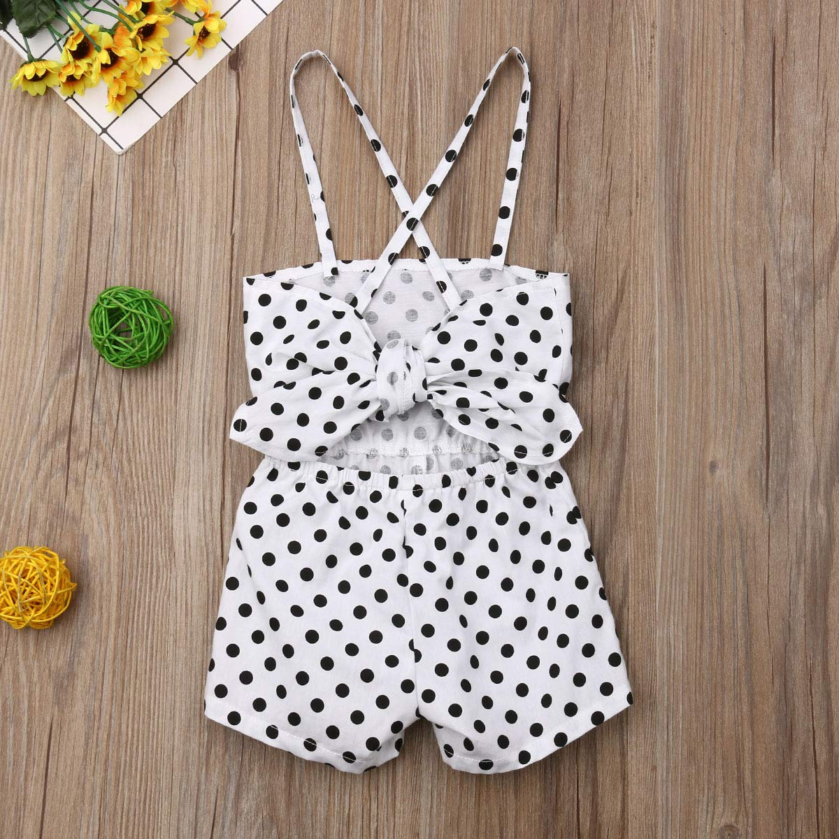 BeQeuewll Toddler Baby Girl Strap Overalls Jumpsuit Romper Outfits Summer Clothes