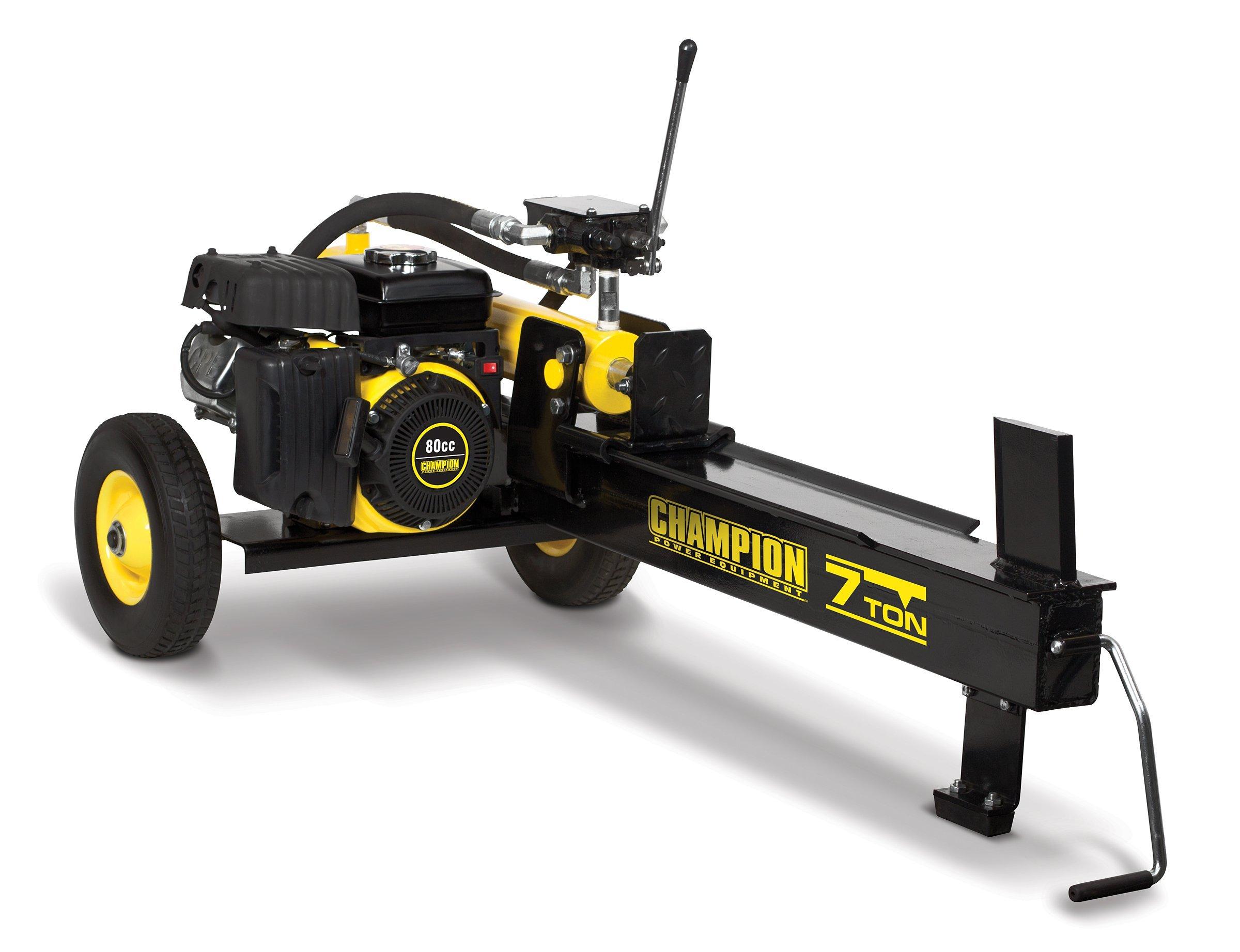 Champion 7-Ton Compact Horizontal Gas Log Splitter with Auto Return by Champion Power Equipment