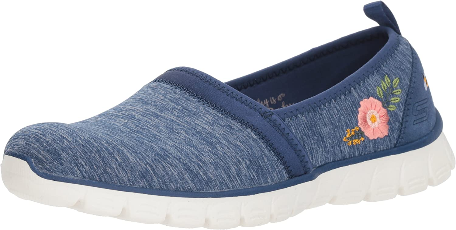 Skechers Womens EZ-Flex-3.0 Sweet Garden Memory Foam Loafers Shoes