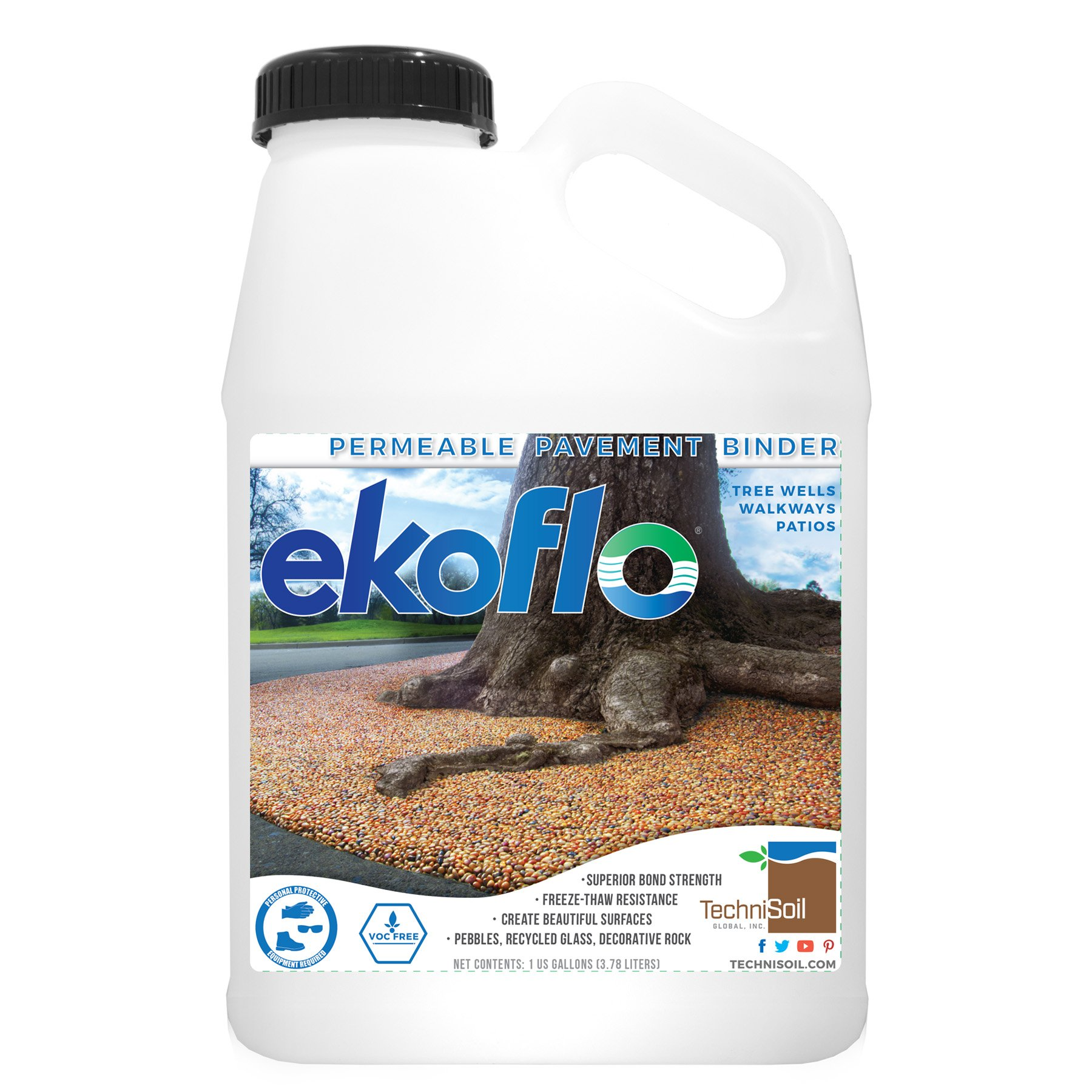 EkoFlo Permeable Pebble Binder (1-gallon bottle)
