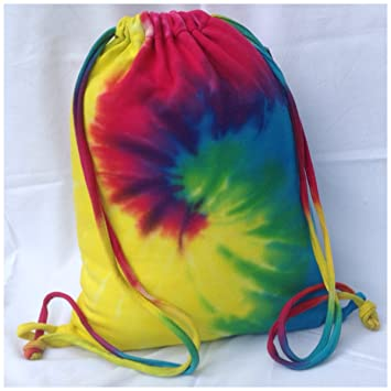 Tie Dye Drawstring Bag- P.E Bag, Sports Bag: Amazon.co.uk: Luggage