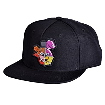 Five Nights at Freddys Snapback Cap Fazbear Bonnie Chica Foxy Baseball Cap  Black 947917fb59a