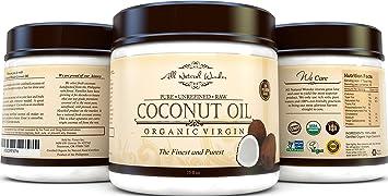 Best Organic Virgin Coconut Oil For Hair Skin & Stretch Mark, Finest Grade  For Beauty