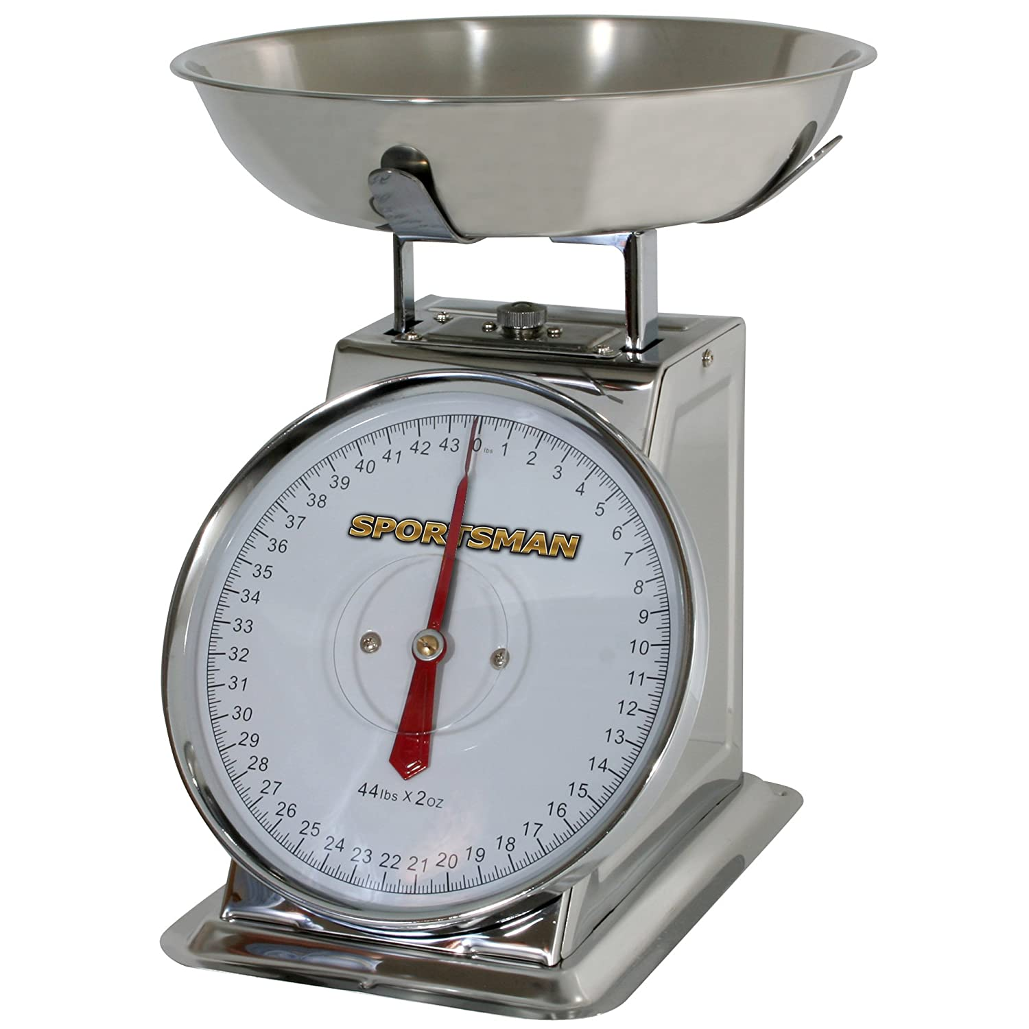 Amazon.com: Sportsman SSDSCALE 44-Pound Stainless Steel Dial Scale ...