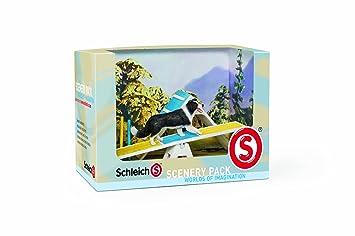 Schleich 41803 - Figura/ miniatura Paisaje catálogo de módulos de la agilidad del perro: Amazon.es: Juguetes y juegos