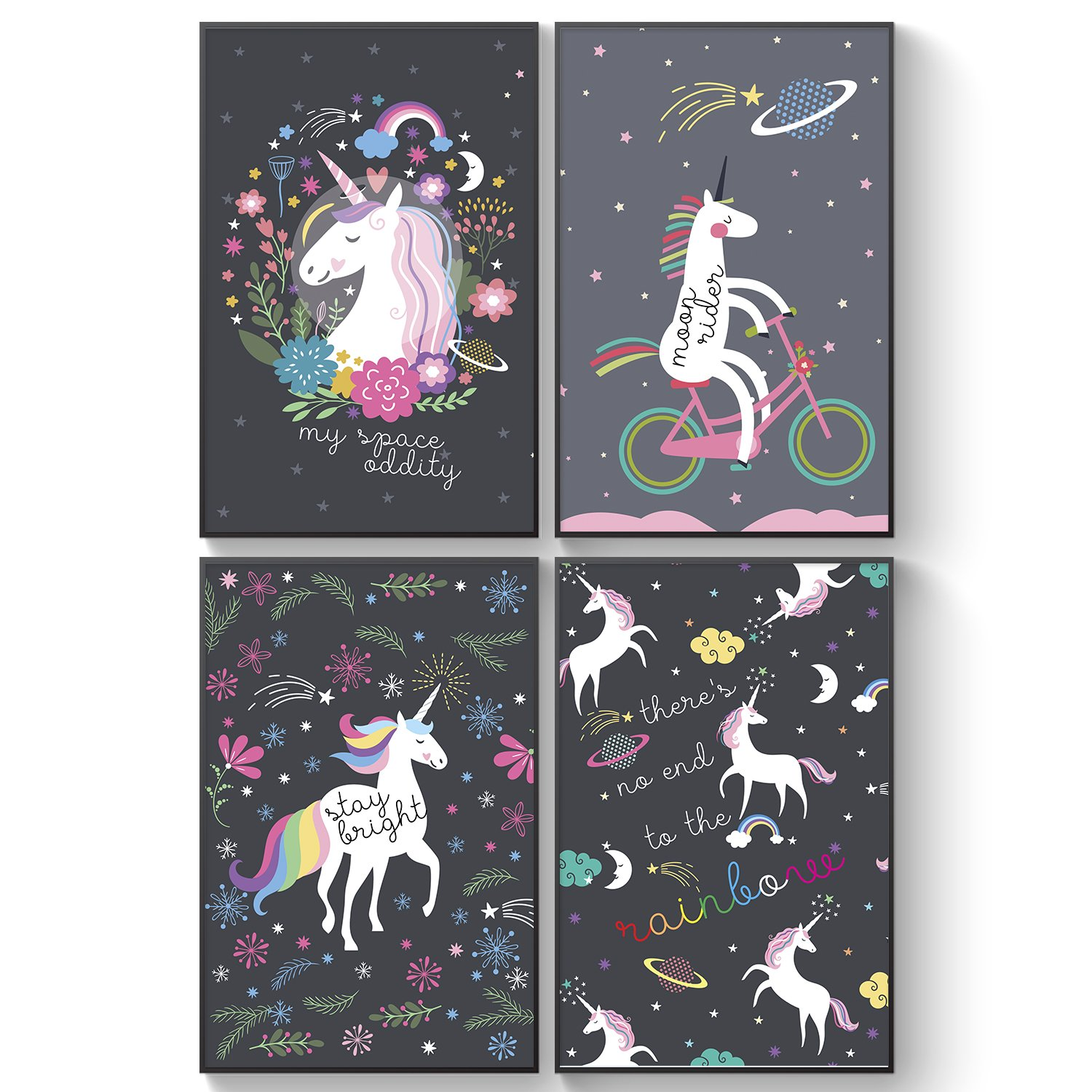 Pillow Toast Galaxy Unicorns Posters 4 Set For Girls Space Bedroom Decor Cosmic Unicorn Wall Art A3 Size Hanging Buy Online In Bahamas At Bahamas Desertcart Com Productid 91455508