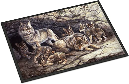 Carolines Treasures Springtime Dogs Floor Mat 19 x 27 Multicolor
