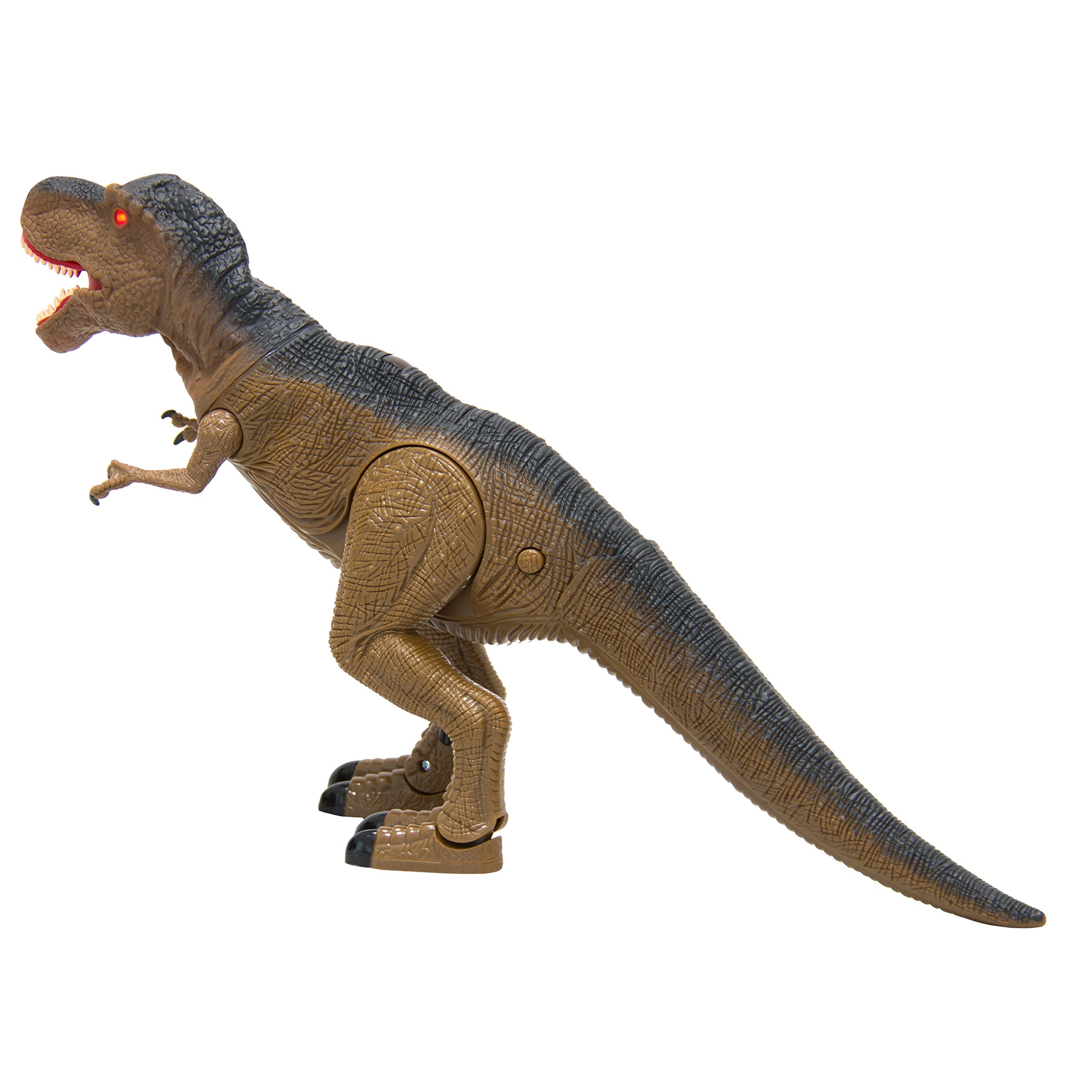 Best Choice Products 19in Kids Walking Remote Control Tyrannosaurus Rex Dinosaur RC Toy w/ Light-Up Eyes, Sounds by Best Choice Products (Image #2)