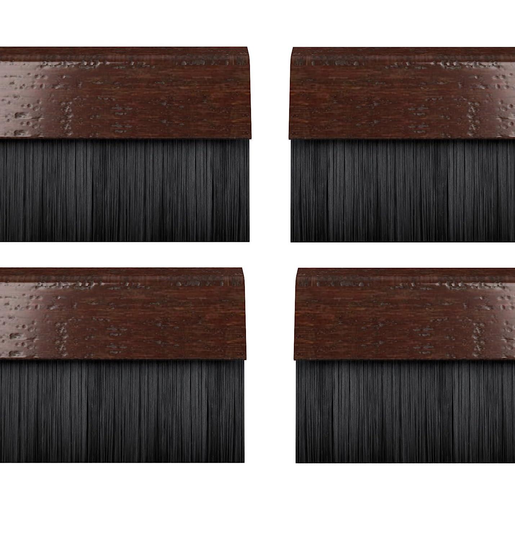 STORMGUARD 02AM0020838DWO Bds Cover Clip Bottom of The Door Brush Draught Seal, Dark Oak, 914 mm, Set of 4 Pieces Srormguard
