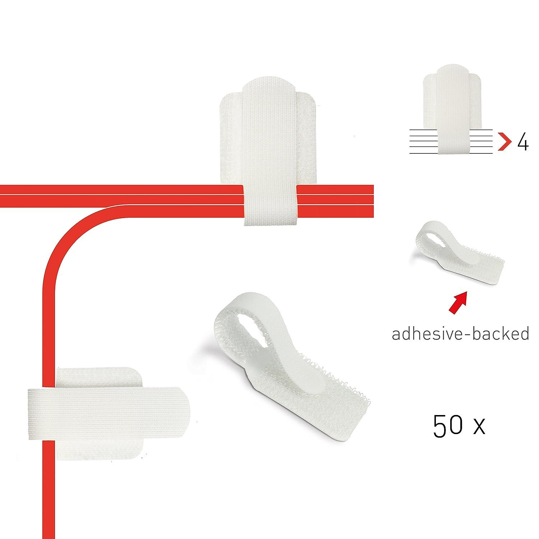 Label-the-cable Kabelhalter selbstklebend mit Klettverschluss ...
