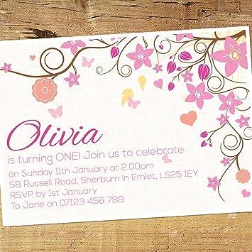 Personalised girls birthday party celebration invitation cards personalised girls birthday party celebration invitation cards bb013 pack of 50 stopboris Choice Image