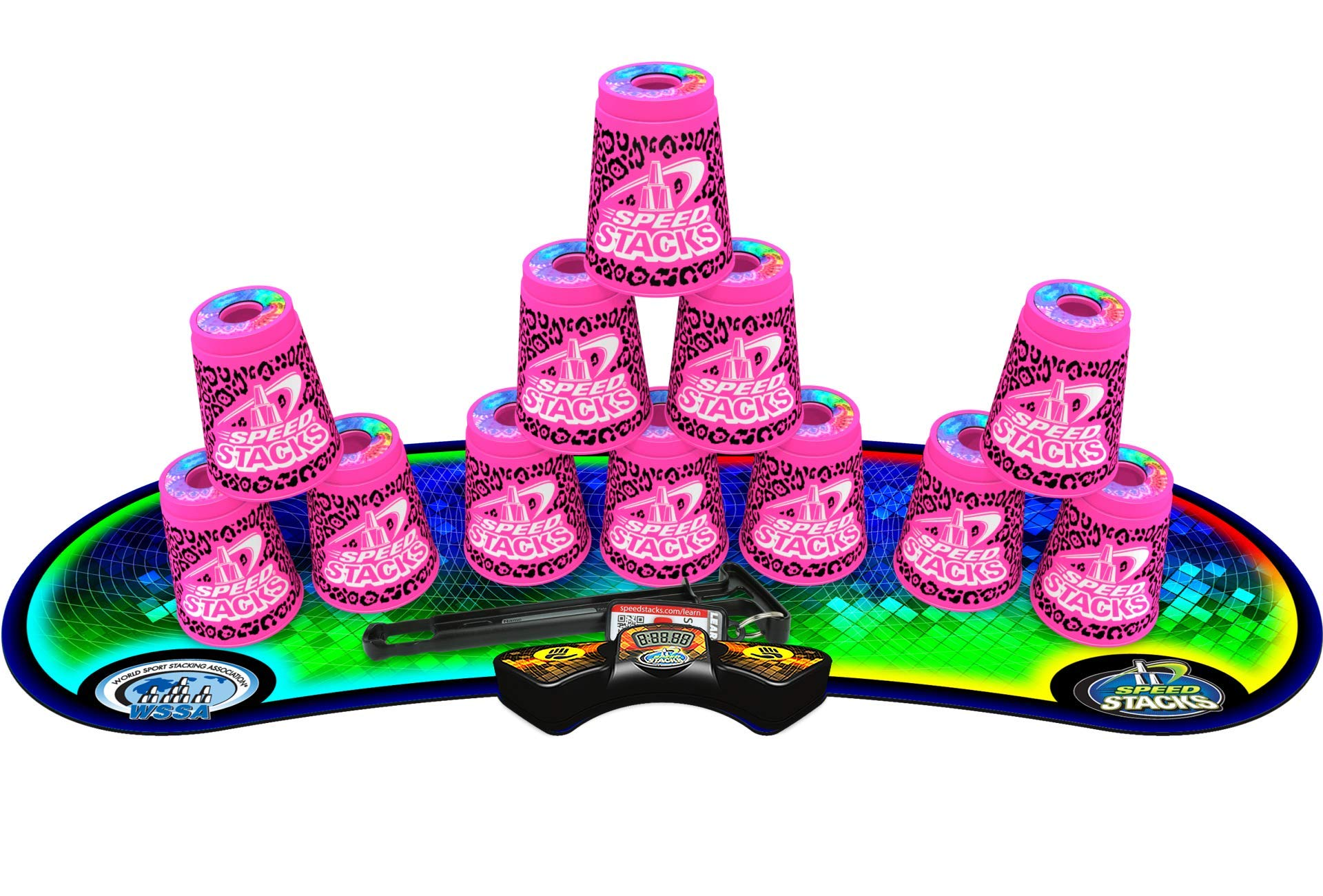 Speed Stacks Competitor - Zippy Leopard w/ Voxel Glow Mat by Speed Stacks