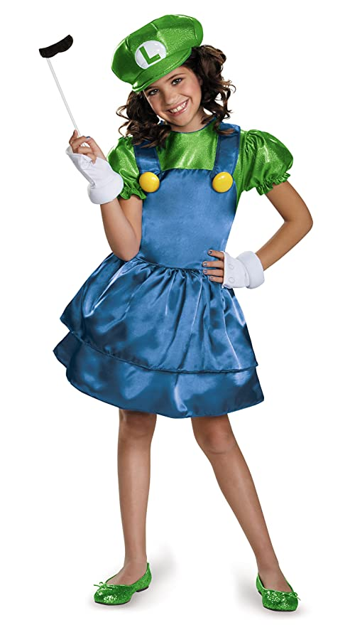 Luigi Skirt Version Costume, Large (10-12)