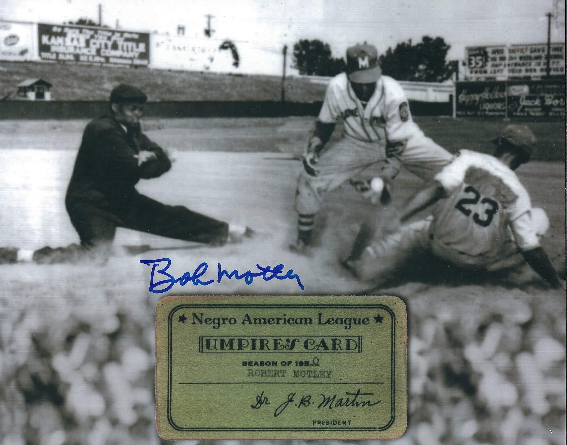Autographed Bob Motley 8x10 Negro League Photo