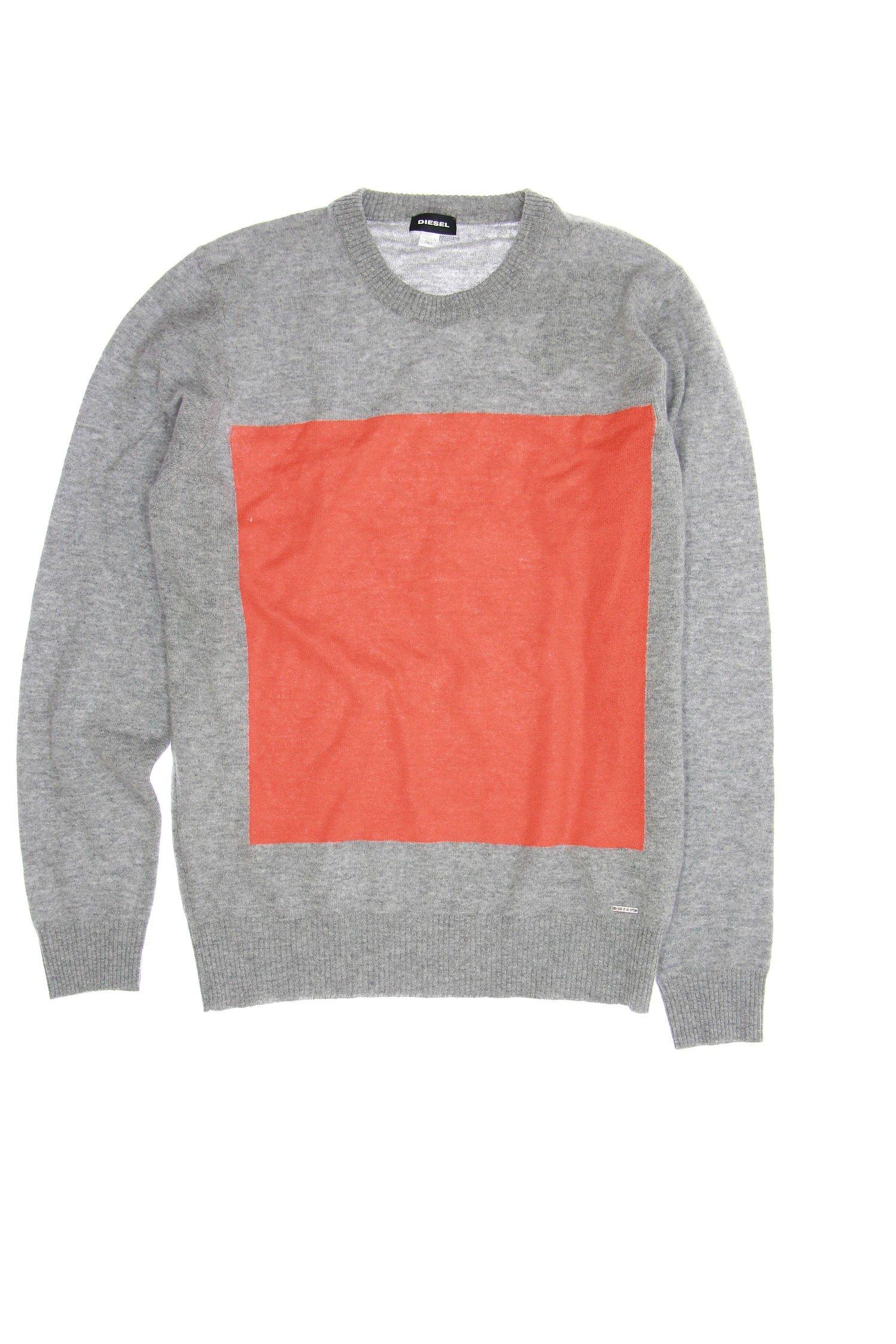 Diesel K-Resoluta Men's Heather Crew Neck Sweater (Medium, Light Gray) by Diesel