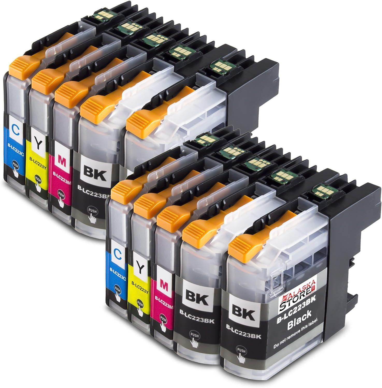 10x Cartucho de tinta Compatible con Brother LC223 Trabajar con ...