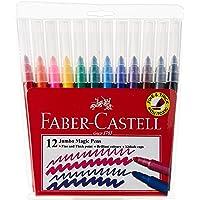 Faber-Castell PL154512 12-Piece Jumbo Magic Pens Set,Multicolour