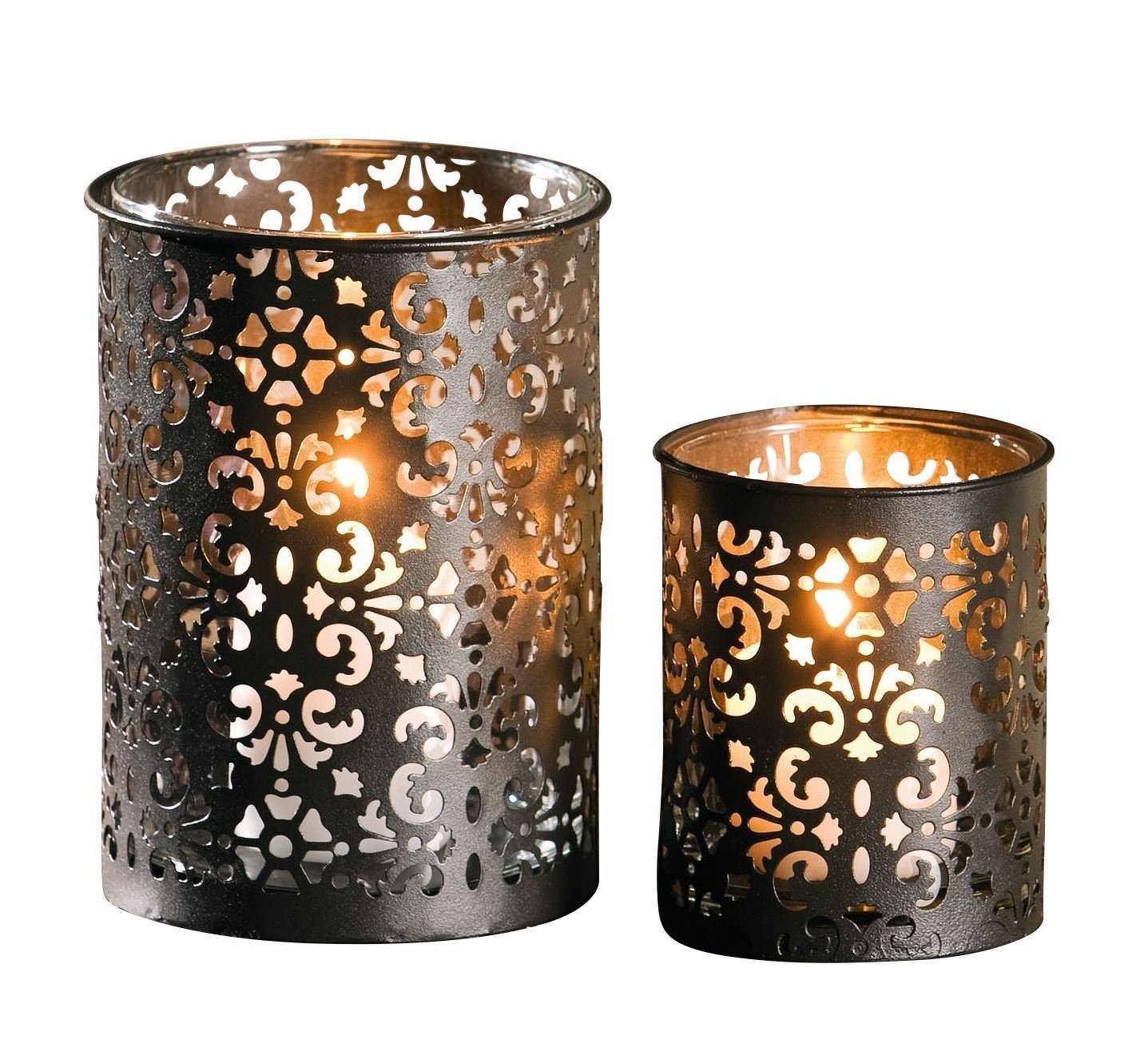 Frank tealight candle holder made of metal paisley 229180