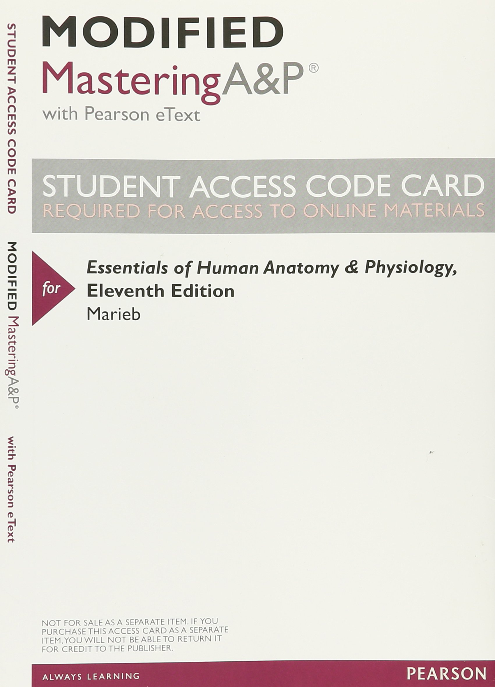 Modified Mastering A&P with Pearson eText -- ValuePack Access Card ...