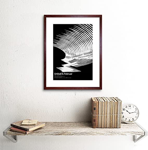 AD CULTURAL BALL DANCE SWITZERLAND BLACK WHITE ABSTRACT FRAMED PRINT B12X4349