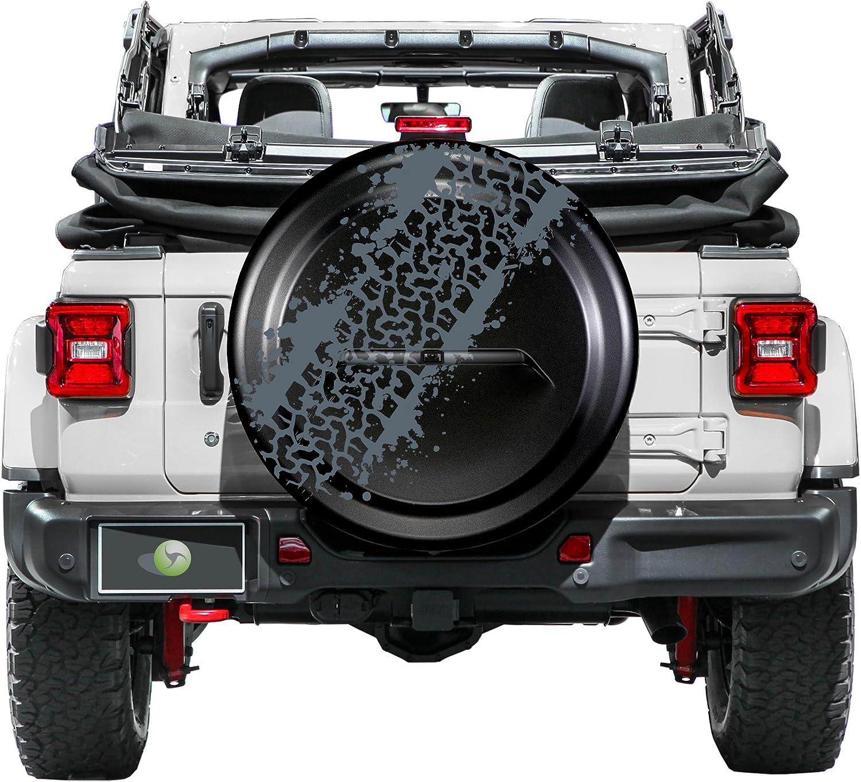32 Rigid JL Tire Cover - Jeep Wrangler JL Hard Plastic Face /& Vinyl Band - Mud Track