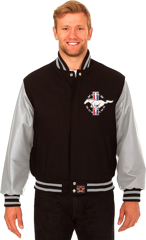 Children/'s Licensed Ford Mustang Pony V8 American Baseball Varsity Car Jacket