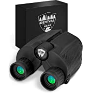 Powerful Compact Binoculars: Tactical & Durable Set That Everyone Finds Easy To Use. Includes Neck Strap & Travel Case. Used When Hiking, Bird Watching, Pro Sports Games, Concerts, Hunting, etc.