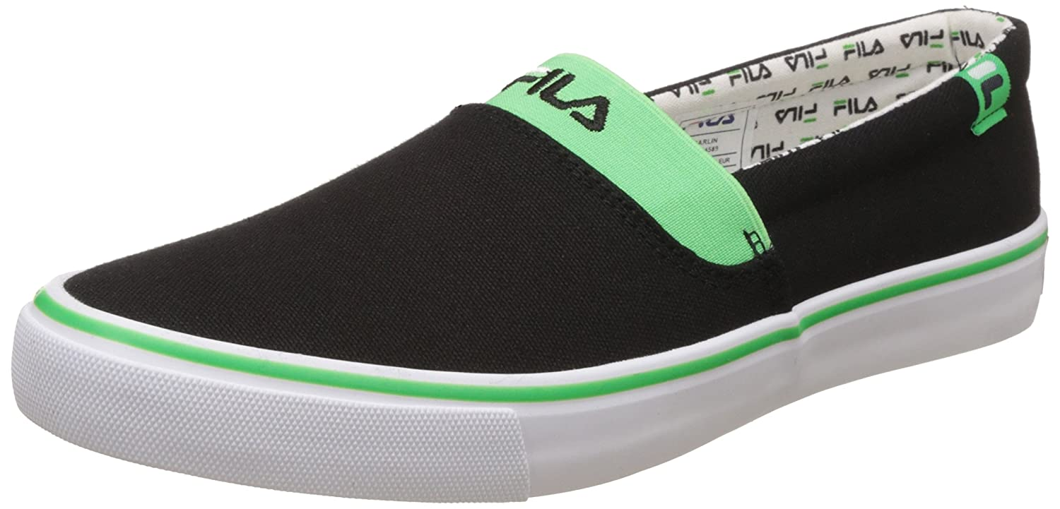 14a9f977d8dd Fila Men s Carlin Black and Green Sneakers - 7 UK India (41 EU)  Buy Online  at Low Prices in India - Amazon.in