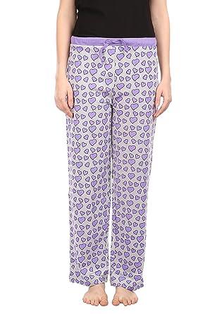 7fde28613bb7 Semantic Women Cotton Pyjama Ladies Blue Heart s Printed on Grey Color  Pyjama s Regular Fit Sleepwear Size