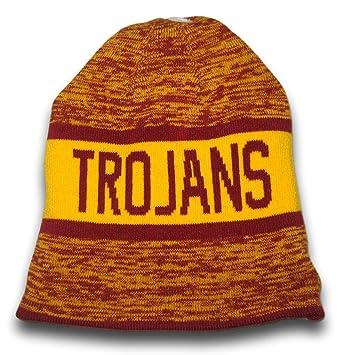Trojans Girls USC Beanie Hat Fowler Knit Cap Baby Toddler Size 0-12 White Poly