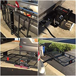 Amazon.com: Hitch Cargo Carrier Magnetic Mount LED Flat-4