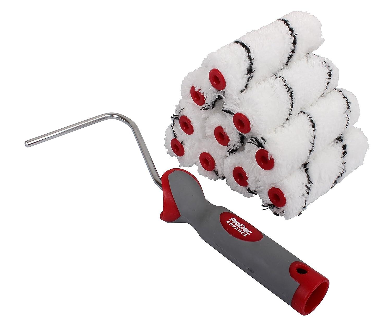 Marco de microfibra y fibra de pelo mediano ProDec juego de 12 piezas color blanco Advance ARRF007 10,16 cm