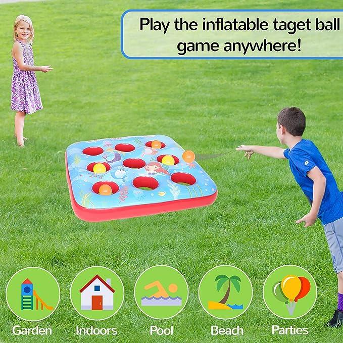 KreativeKraft Target Ball Juego Inflable para niños Fiesta Juegos ...