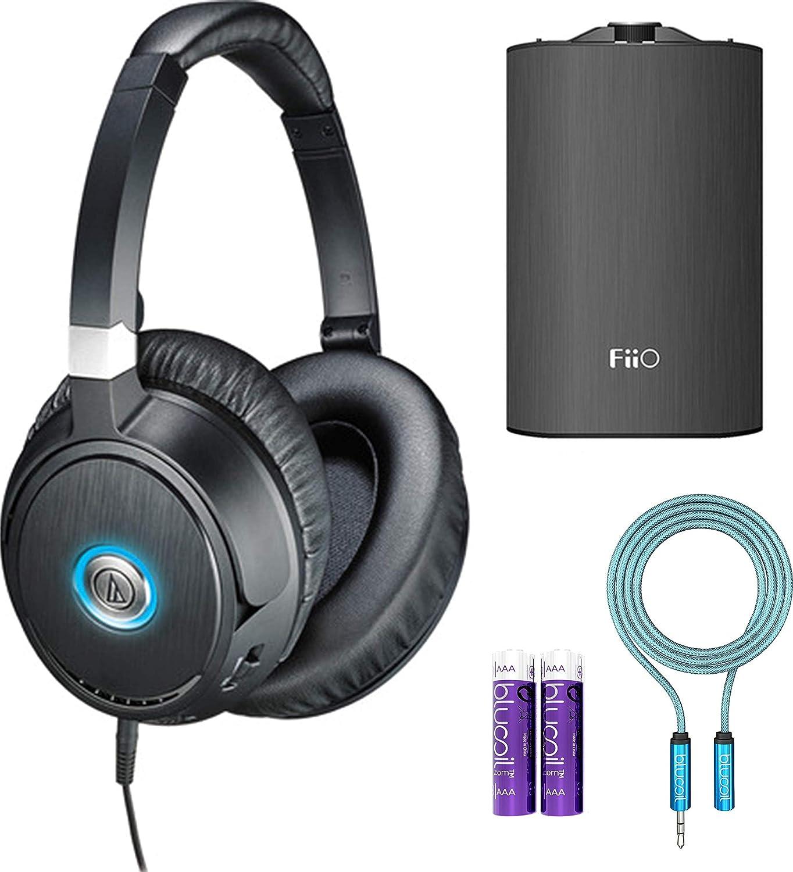 Audio-Technica ATH-ANC70 QuietPoint Active Noise Cancelling Headphones  Bundle with FiiO A3 Portable Headphone Amplifier 42a44b8bec6f6