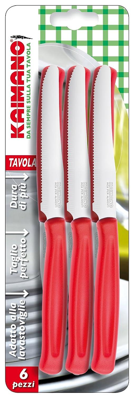 Kaimano Dynamic 6 Table Knife, Stainless Steel, Red, 28 x 10 x 2 cm Fiskars KDN041506R