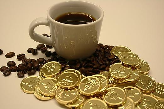 50 Café de monedas de latón/latón de moneda con el tamaño de un de 50 Cent vestir: Amazon.es: Oficina y papelería