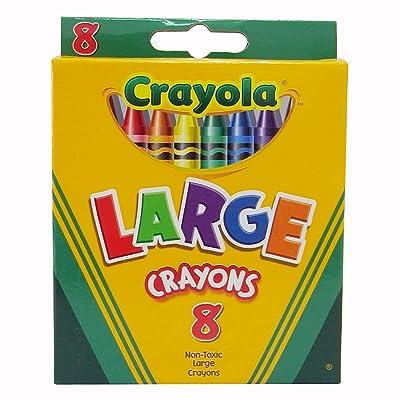Crayola Large Crayons (CYO520080): Toys & Games