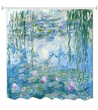 A.Monamour Rideaux de Douche Nénuphars par Claude Monet Peintures À ...