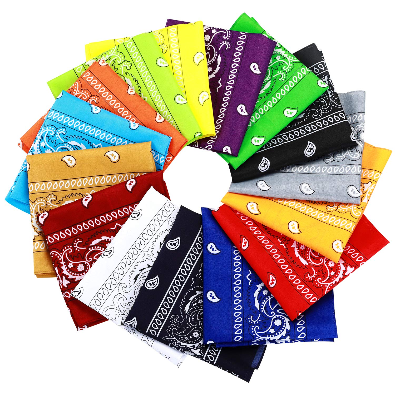 15pcs Bandanas Multi-Purpose Bandanas Headbands for Women Men Girls Boys Unisex