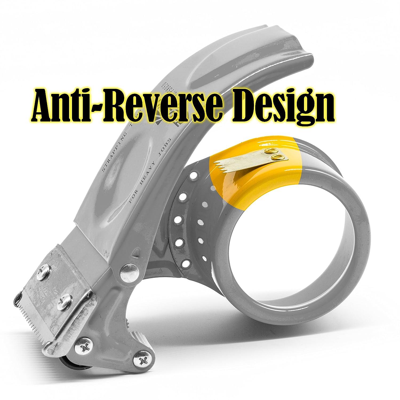 75mm//3 pulgadas Dispensador de Cinta para F/ácil Utilizaci/ón en Trabajos de Empaquetado Amarillo Prosun Dispensadores de Cinta Adhesiva con Mango Ergon/ómico