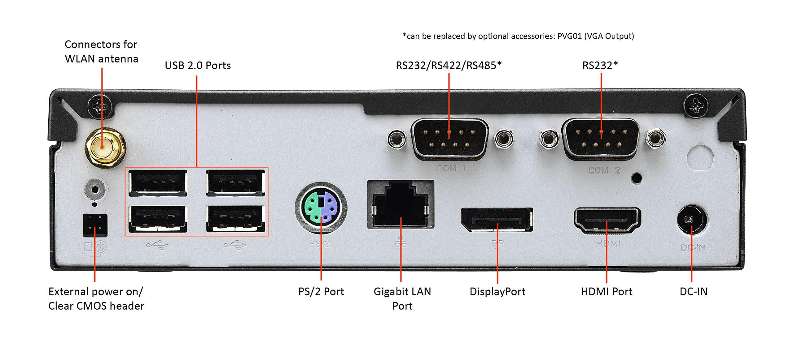Shuttle XPC Slim DX30, Intel Apollolake Celeron J3355, Gigabit LAN, Dual COM Port, Fanless Design, DDR3L SODIMM Max 16GB by Shuttle (Image #4)