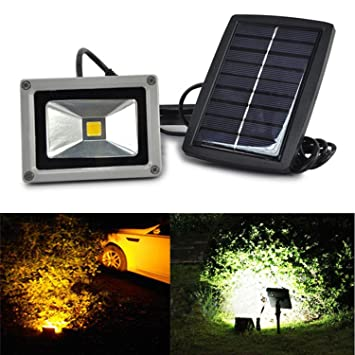 Amazon 10w led flood night light solar power spot light 10w led flood night light solar power spot light reflector cob night lamp for driveway porches aloadofball Choice Image