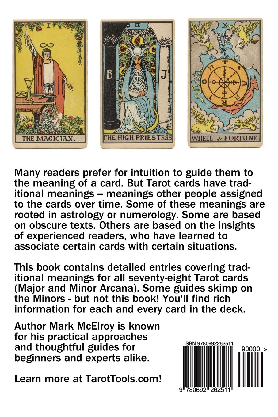 A Guide to Tarot Card Meanings: Mark McElroy: 9780692262511: Amazon